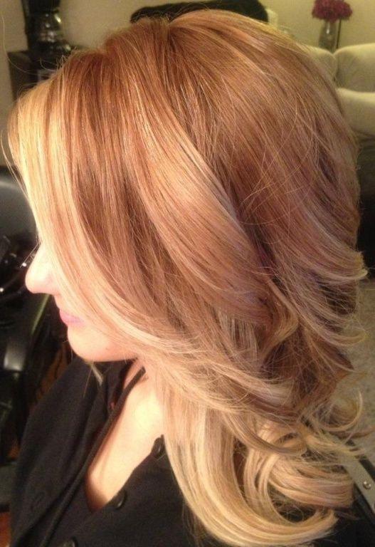 light copper blonde ombre