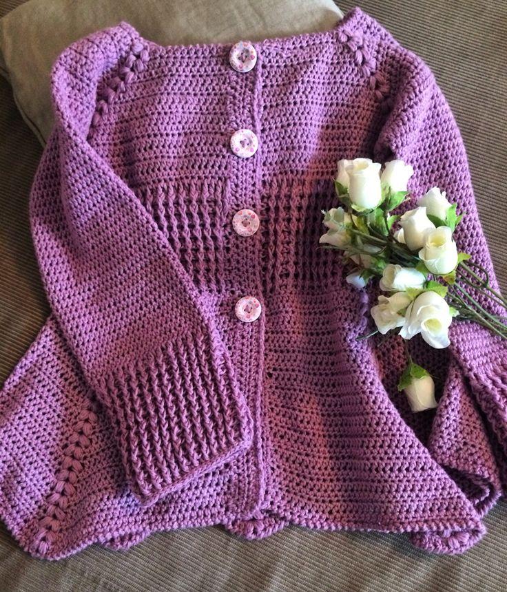 Crochet girl's sweater. (MOS)
