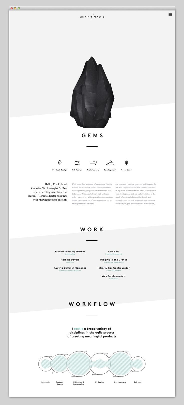 Websites We Love — Showcasing The Best in Web Design | http://weaintplastic.com/
