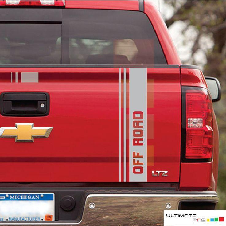 Decal sticker for Chevrolet Silverado indicator tail gate tailgate door light v6 #ultimateprocy