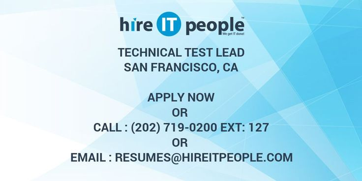 Technical Test Lead with 8-10 years of experience. Minimum4 years of hands on experience in CA Virtualize on service virtualization is a must.  Location : SFO/Charlotte, USA    • At least 4 plus years of experience on Service Virtualiz