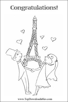 Free Printable Paris Wedding Invitation