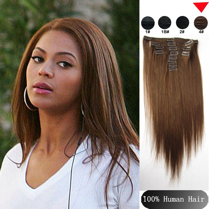 20 best clip ins hair extension images on pinterest pre bonded sina straight bra zilian clip in hu man hair extensions hair products mediun dark brown hu man hair freeshipping pmusecretfo Choice Image