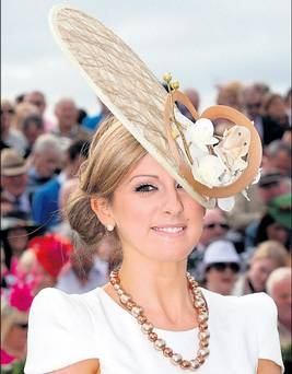 Sieglinde Mullers from Co. Galway, winner of the Best Hat competition at the 2011 Galway Races