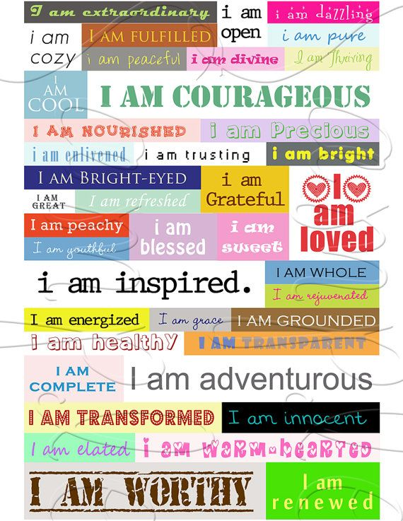 41 I AM Stickers that display as Wall Art by livelaughlovelots, $12.00