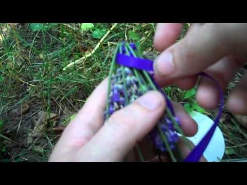 Lavender is in bloom! how to make ribbon woven lavender wands