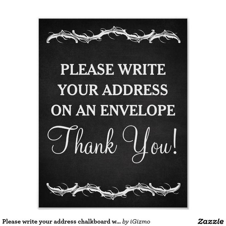 write address on envelope baby shower