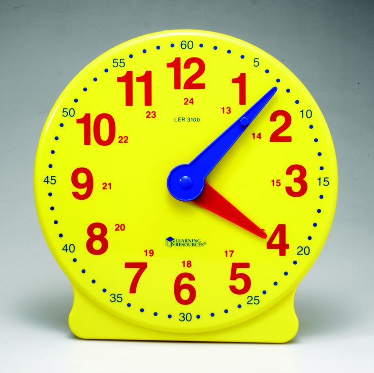 24hr Big Time Learning Clock. With hidden gears for teaching and learning time-telling concepts. #time #clock #teaching