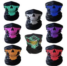 High Quality Halloween Skull Party Black Mask Neck Scary Masks Motorcycle Multi Function Headwear Mask Masquerade Mardi Gras R28(China)