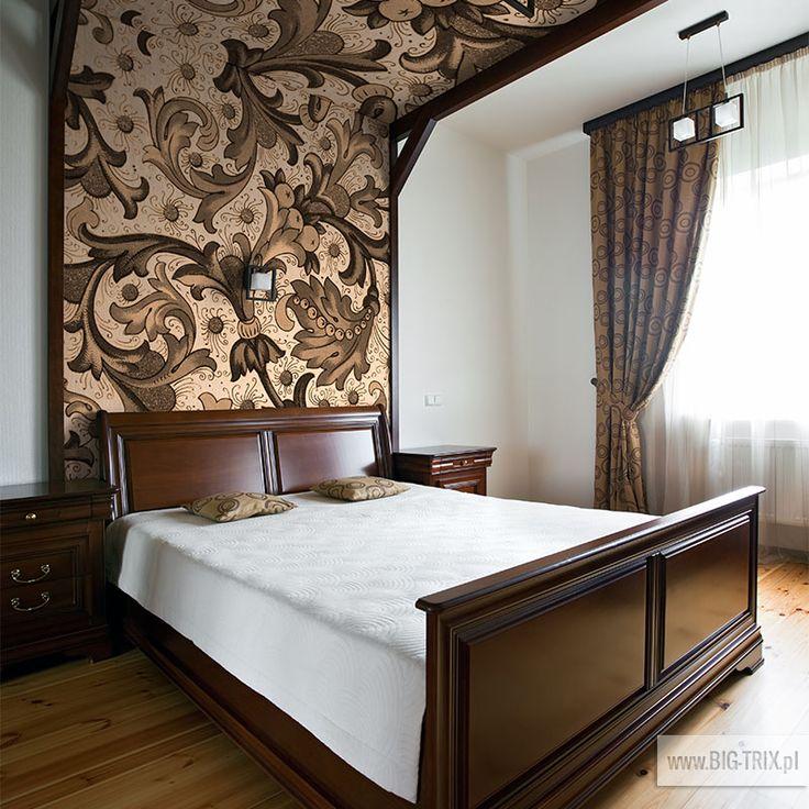 BEDROOM: Classic wallpaper by Big-trix.pl | #wallpaper #classic #retro #bedroom