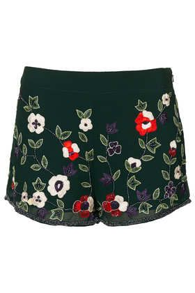 embellished shorts from TOPSHOP
