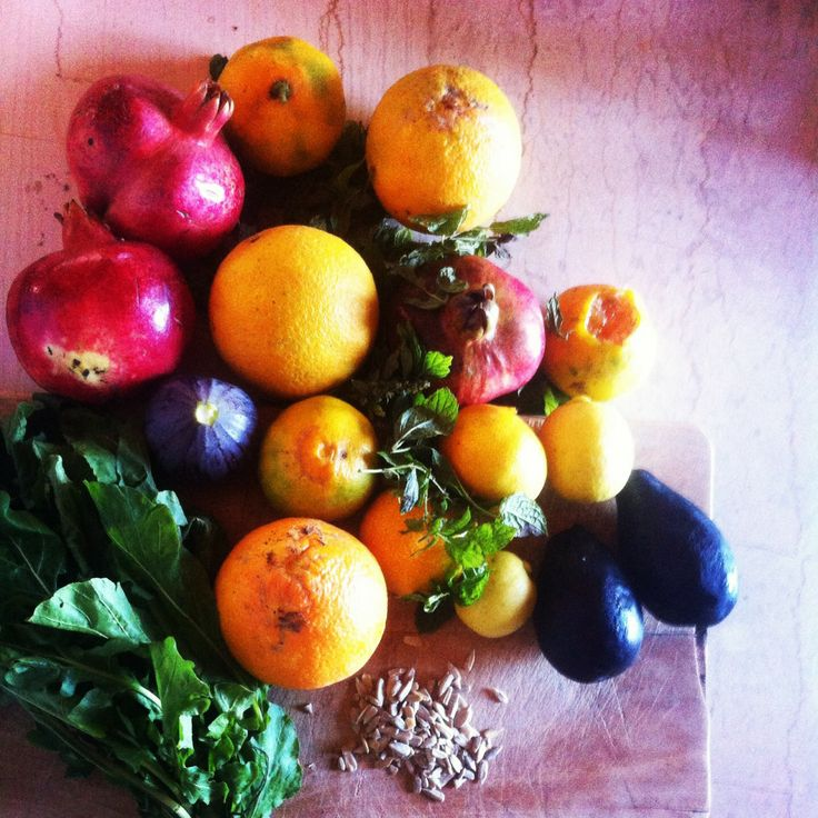 Autumn's best I picked from the garden for a juicy salad