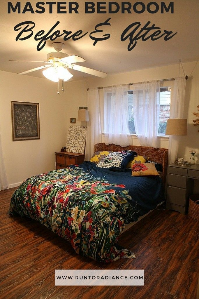 Must see before and after of a master bedroom eloquently done. Timeless, personal and romantic