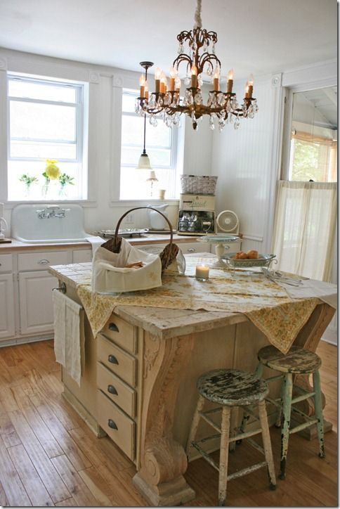 Love The Chandy And The White Vintage Kitchen