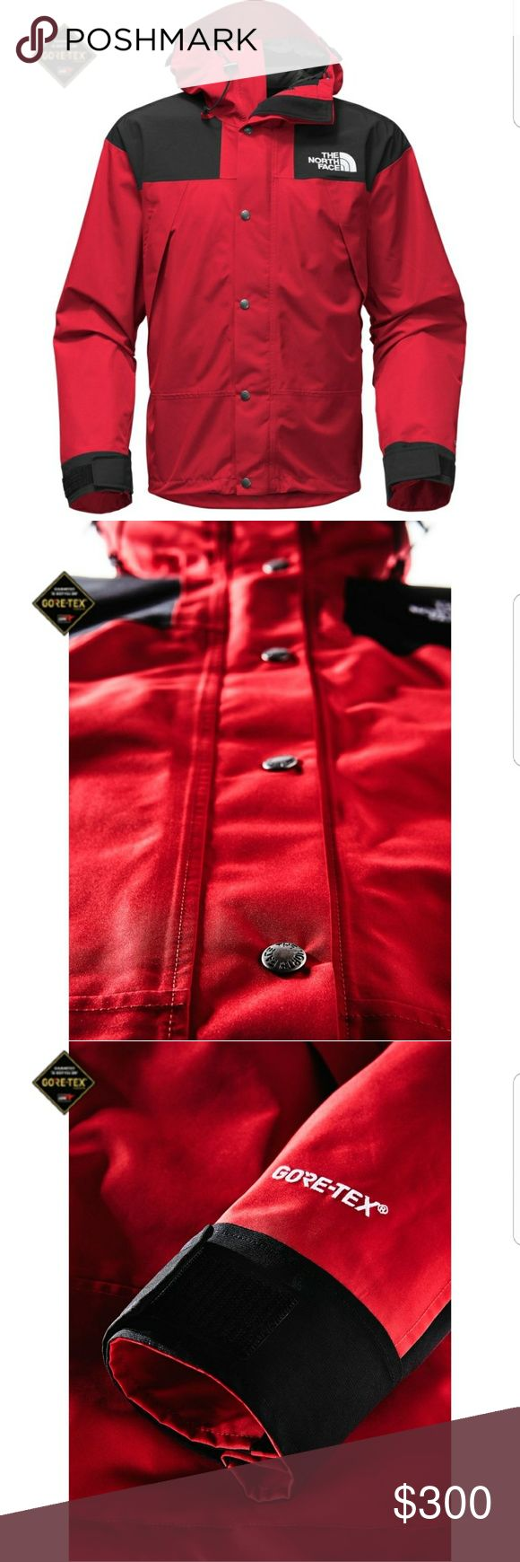 North Face   Men's 1990 Mountain Jacket Gortex Men's North Face 1990 Gortex Mountain Jacket in excellent, like new condition. No flaws. This jacket comes with a lot of nice features including a hood that tucks into the collar, snow skirt, arm pit vents, & a lot of zip pockets. Jacket sold out everywhere online! Lifetime quality guarantee by North Face. 1990s throwback style. Oversized fit. Could probably fit a medium. NF has a handy size finder on their site if youre concerned. 29in length…