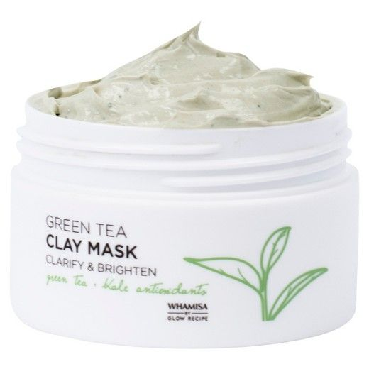 The Whamisa by Glow Recipe Green Tea Clay Mask helps to brighten skin, refine pores, balance oiliness, and banish breakouts with gentle, non-stripping and non-drying whipped White Clay. Formulated with antioxidant-rich Green Tea, a natural anti-inflammatory and Kale to brighten and refine troubled skin with high concentrations of vitamins A and C. <br>How to Use:<br> Spread a thin layer over cleansed, dry skin, avoiding the eye area. Leave on for 10~15 minutes. Wash off gently wit...