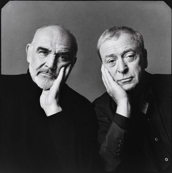 Sean O'Connor and Michael Caine Photo by Michael O'Neill