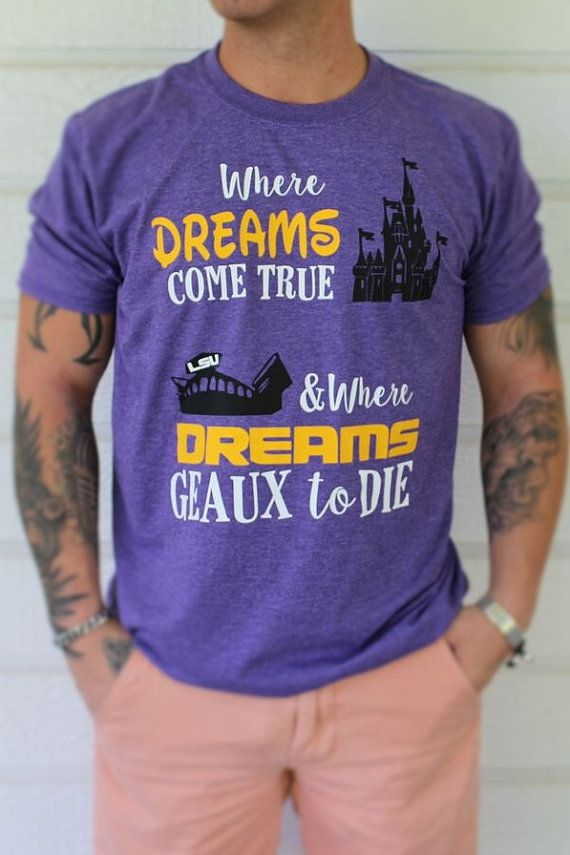 LSU Disney Shirt for Men / LSU Death Valley by MagicInMyVeins