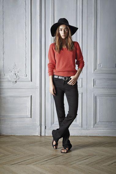 #style #Outfit #fashion #hat  #sweater #red #cotton #silk #beautiful #fashion #womenswear