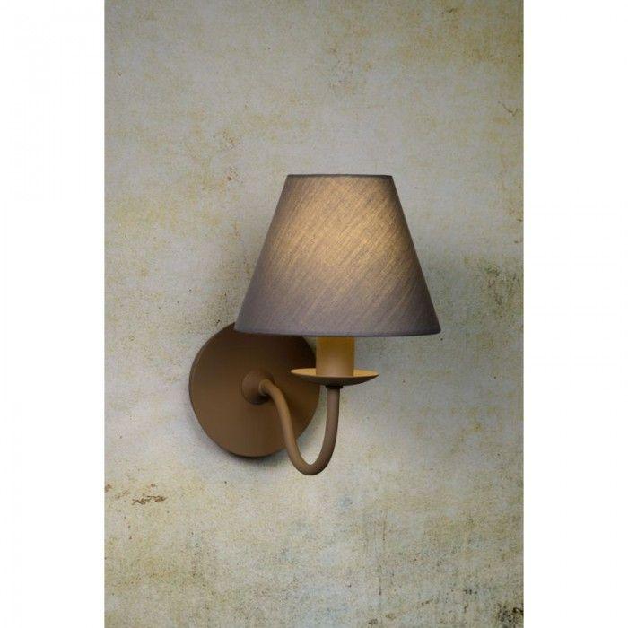 Pagnas wandlamp 1 - taupe - wandverlichting - binnenverlichting - Lichtkoning.be