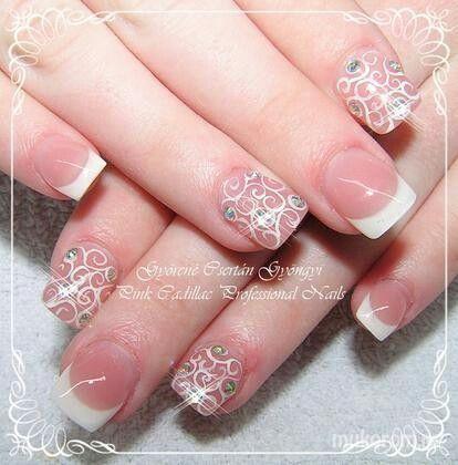#nail #nails #nailart #beauty #nailsalon #naildesign #nailstyle #style #pinkcadillac #white #french