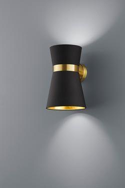 Applique noire et dorée. Baulmann Leuchten.                                                                                                                                                                                 Plus