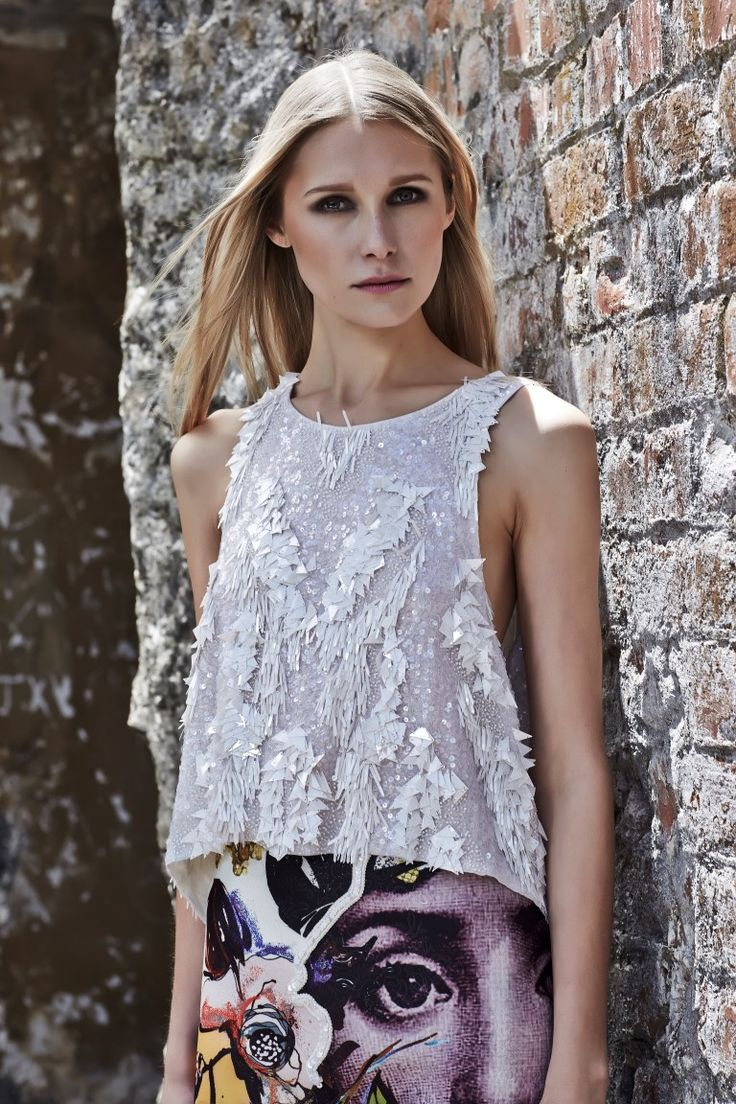 Trelise Cooper 'FREEZING RAIN' top and 'GLANCING WITH THE STARS' skirt http://trelisecooperwellington.co.nz/