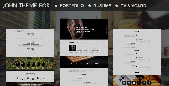 John-Parallax Resume Muse Template is a finely crafted Muse theme, with a clean ultra-modern design for easy customization. Developed and decoded using MUSE CC 2014 the theme adds a real definition in telling your tale with style.