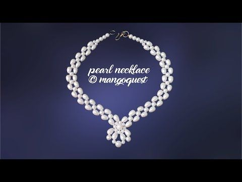 Pearl Necklace Tutorial Fashion Jewellery DIY By Mangoquest – YouTube