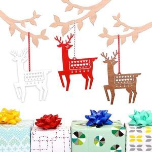 nordic inspired christmas tree decoration deer