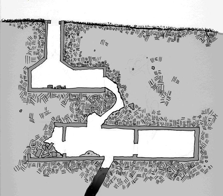 Interior map from Ibu The Emerald Canopy sandbox hexcrawl