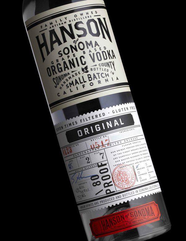 Hanson Vodka by Stranger  Stranger, via Behance