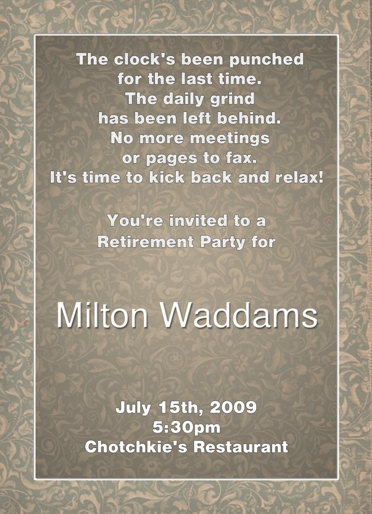17 best images about retirement invites on pinterest