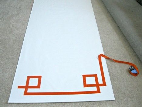Tutorial on adding Greek Key trim to a plain shade  @Julie Bowyer this would look good on Evans' shade