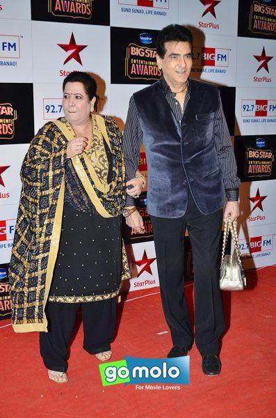 Shobha Kapoor & Jeetendra at Big Star Entertainment Awards in Mumbai