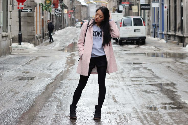 Cute Pink Coat (By Jeannie Yeoh from http://www.leftinpink.blogspot.ca/) (http://www.whatiwear.com/look/detail/165420)  #whatiwear #fashion #blogger #casual #cute #wow #wiw #ootd