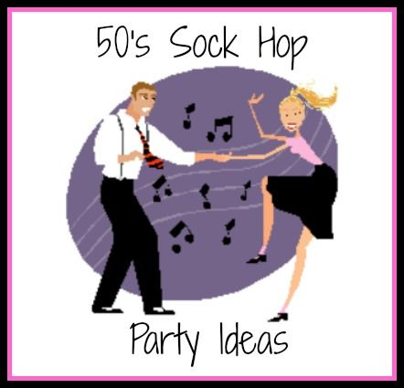 A sock hop party would be great for a school dance theme or a fun graduation party idea