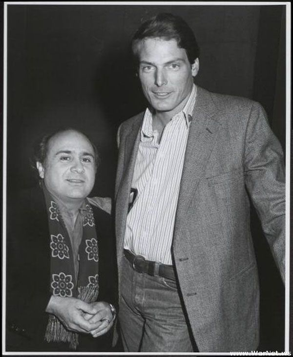 Danny DeVito and Christopher Reeve.  Or, if you prefer, The Penguin vs Superman.