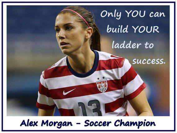 Soccer Poster Alex Morgan Olympic Champion by ArleyArtEmporium, $15.99
