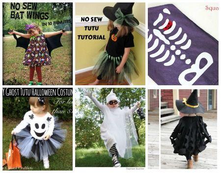 6 costumi di Halloween per bambini, da realizzare senza cucire in modo rapido ed economico.