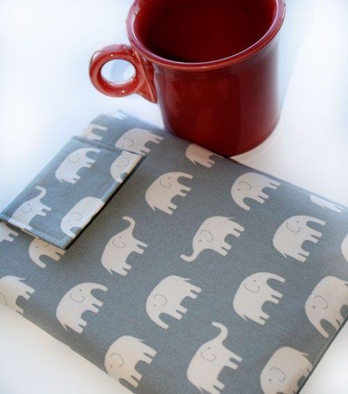 Kindle manica coperchio porta Nook Nook Color, Ereader, Gadget caso - a piedi di elefante in casi grigio Gadget e accessori coperture Ereader
