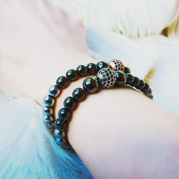 Check out this item in my Etsy shop https://www.etsy.com/listing/573603344/bracelets-set-hematite-elastic-bracelets