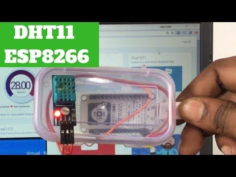 ESP8266 DHT11 Arduino Webserver Source Code Tutorial | My Electronics Lab