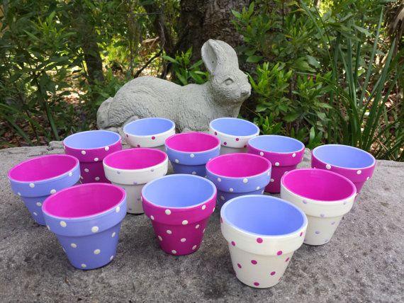 1000 ideas about small flower pots on pinterest painted plant pots paint flower pots and. Black Bedroom Furniture Sets. Home Design Ideas