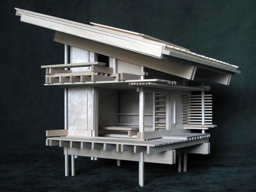 Architectural model by Maciek Jozefowicz of Konokopia