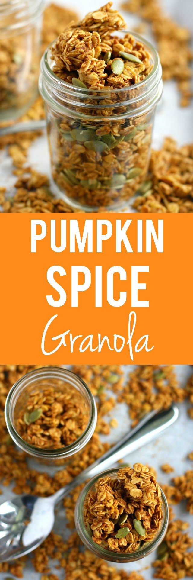 Make this easy pumpkin spice granola for a perfect fall breakfast or snack!
