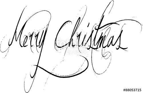 Vettoriale: Merry Christmas writen in English