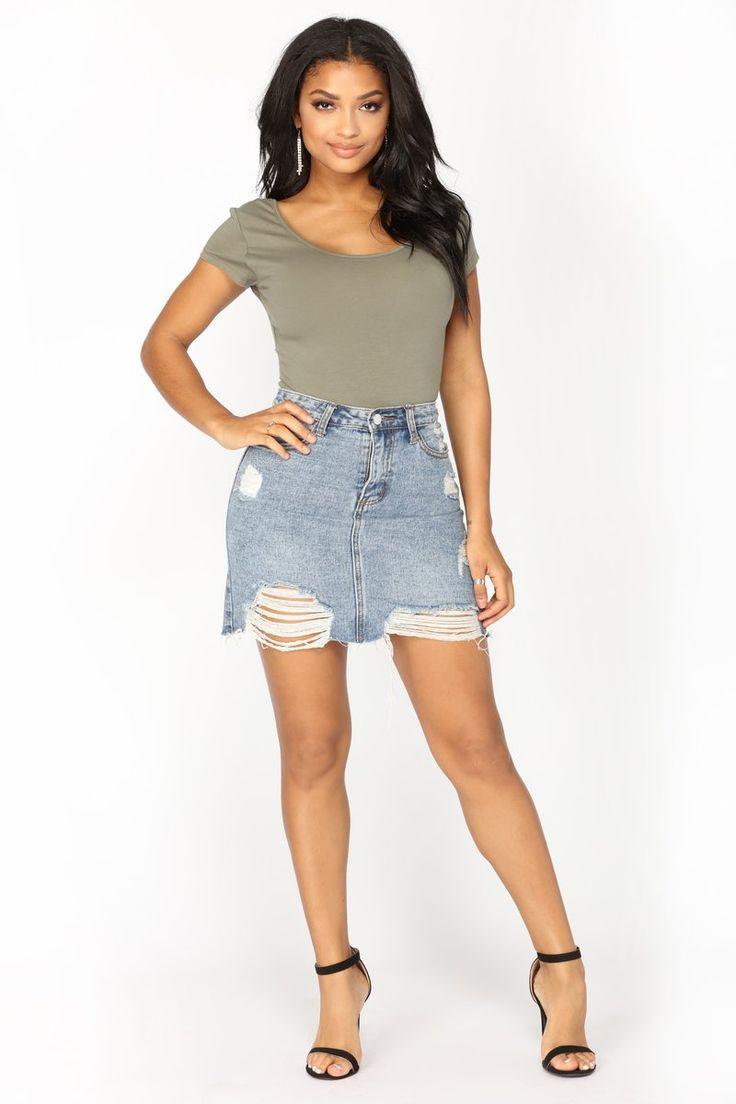 Sabela Basic Bodysuit - Olive