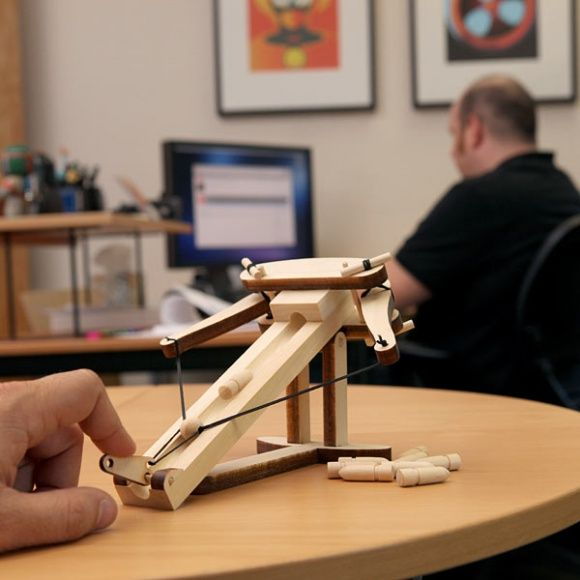 40 Clever Things Constructed From Wood - i would get this to shoot at @Ryan Cooper