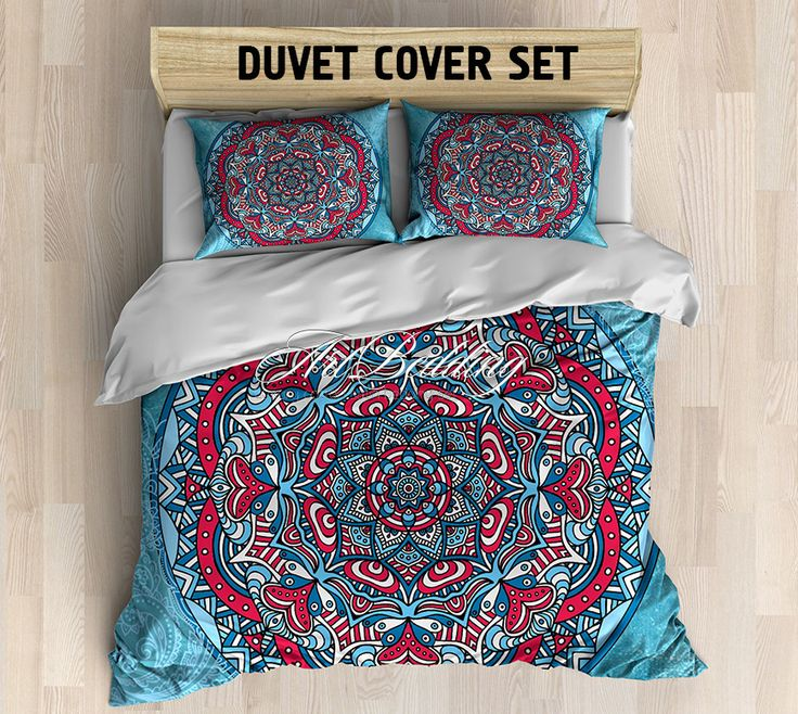 Bohemian bedding, Bohemian queen / king / full / twin duvet cover, Higher mind/ heart sacred circle mandala duvet cover set, Boho duvet cover, boho bedding
